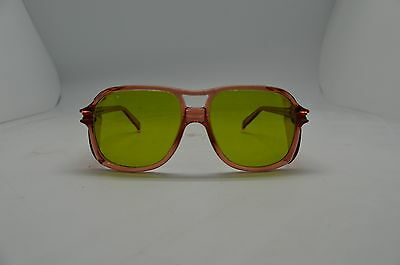 American Optical Safety Glasses 8758 Lens 58 Bridge 19 Red Grn 1.7 Steampunk