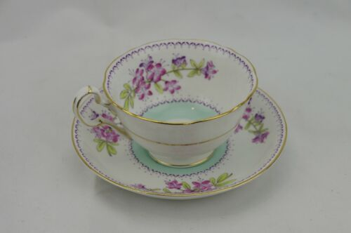 Royal Grafton England Footed Cup & Saucer Shirley Antique