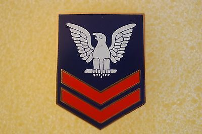 US USA USN Navy Petty Officer 2nd Class Military Hat Lapel Pin