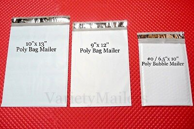 50 Poly Bag 12 Poly Bubble Envelope Variety Pack 10x13 9x12 0 6.5x10
