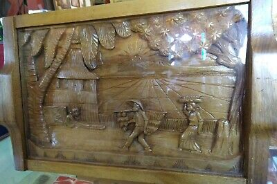 Vintage CPO Wife's Club Hand Carved San Miguel P.I. Serving Tray, Beautiful!