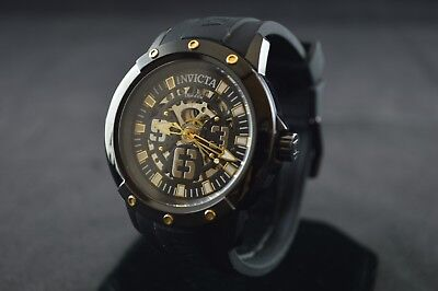Invicta Objet D Art Automatic Black Skeleton Dial Men's Watch 22632