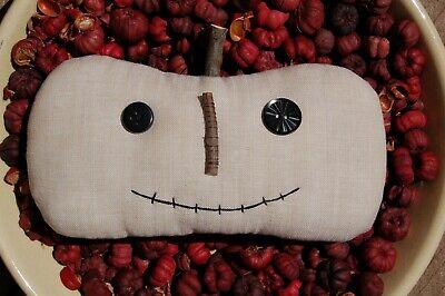 Jack White Halloween (Primitive Fall Halloween Jack o Lantern Large Ornie, Off White)
