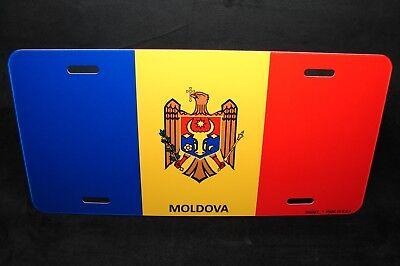 Moldova Bandera Metal Novedad Placa Matrícula para Coches Moldavian Bandera