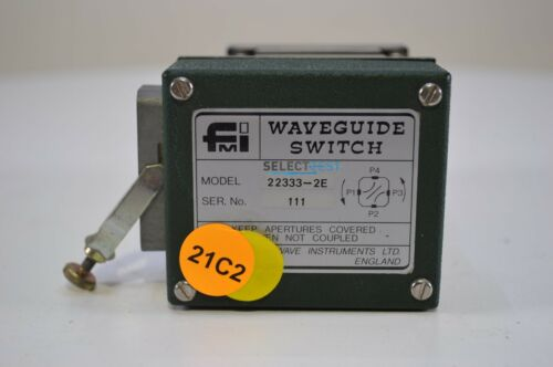 FLANN 22333-2E 26.4 to 40.1 GHz MOTORIZED WAVEGUIDE SWITCH RELAY