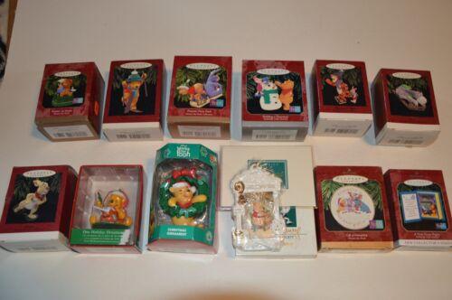 Hallmark KEEPSAKE Xmas Ornaments Winnie The Pooh - Lot Of 12  All Original Boxes