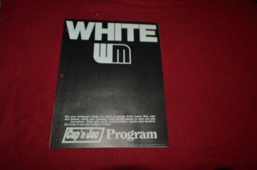 White Oliver Tractor Hat & Jacket Brochure TBPA ver2