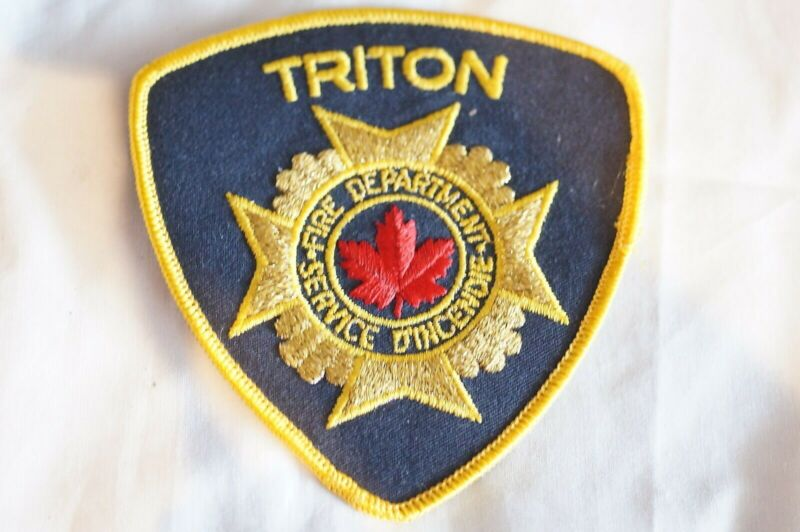 Canadian Triton Fire Department Patch