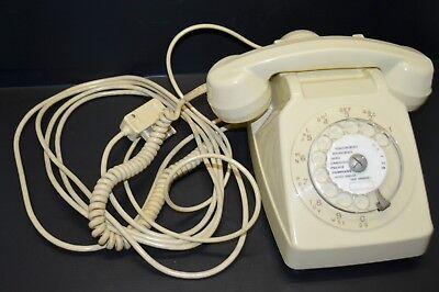 ANCIEN TELEPHONE CADRAN COULEUR IVOIRE socotel COMPLET COLLECTION DECO VINTAGE