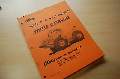 Athey Model B S-97d Skidder Parts Manual Book Log Logging Grapple Spare List Oem