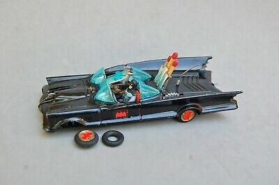 Corgi Batmobile Car Vintage 1960's w/ Robin Batman Figures British Repair Wheel