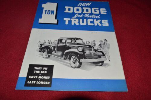 Dodge 1 Ton Trucks For 1947 Dealer