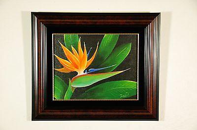Original Signed Bird of Paradise Painting Hawaii Island Art Maui