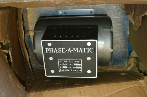 Phase-A-Matic 5 hp Phase Converter, 208-240v, Rotary