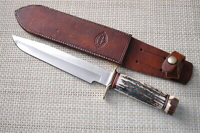 MIKE SILVEY CUSTOM STAG MARBLES STYLE KNIFE