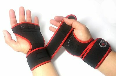Workout Gloves Weight Lifting Long Strap Gym Bodybuilding Wrist Support Wraps RD