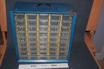 Vintage Akro Mils Storage Parts Wall Table Metal Cabinet 45 Drawers
