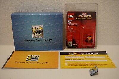 LEGO SDCC COMIC CON 2017 EXCLUSIVE DEADPOOL DUCK MINIFIGURE + BOX & PIN NEW