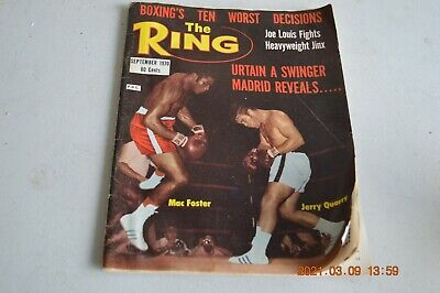 Magazine The Ring Sept 1970 Mac Foster V Jerry Quarry