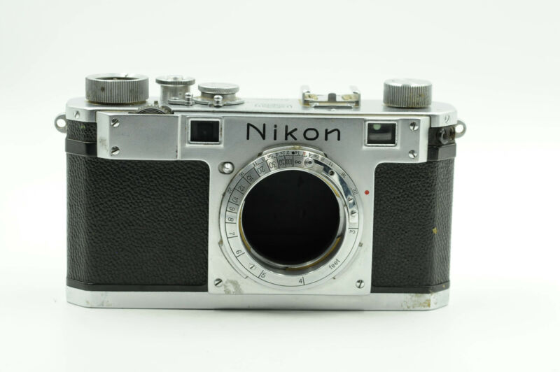 Nikon S Rangefinder Film Camera Body Chrome                                 #408