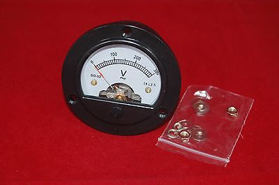 1pc Ac 0-300v Round Analog Voltmeter Voltage Panel Meter Dh52 Dia. 66.4mm