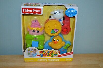 Brand New 2004 Fisher-Price - Brilliant Basics Activity Magnets Baby Toys H0444
