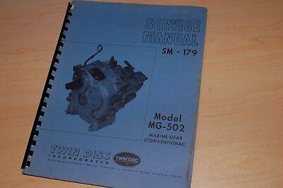 Twin Disc Mg-205 Marine Gear Transmission Service Manual Repair Shop Boat Motor