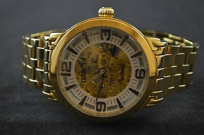 Invicta Objet D Art Silver Skeleton Dial Stainless Steel Men's Watch 22599