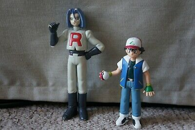 Pokemon Action Figure Original Vintage Ash Ketchum & Team Rocket JAMES 1998 TOMY