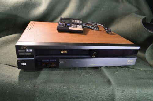 VINTAGE JVC SVHS SUPER HR-S8000U REMOTE VIDEO RECORDER, ORIGINAL OWNER STORED