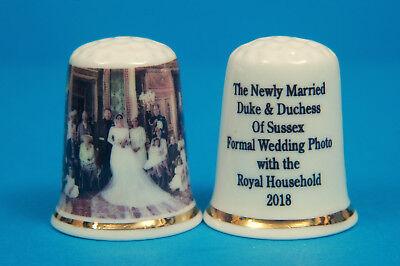 Prince Harry & Meghan Formal Boda Foto Con Familia 2018 China Dedal...