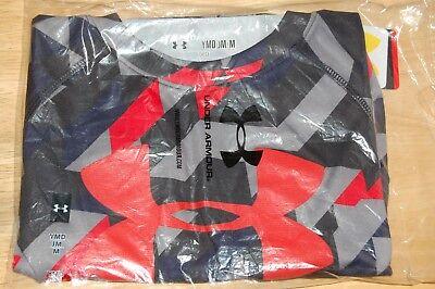 rare under armour heatgear BOYS youth UA logo loose fit shirt medium
