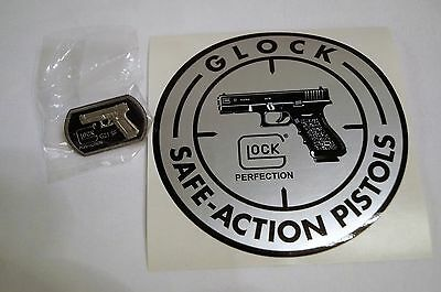 Glock Safe Action Pistols Decal and G21SF Pinback New