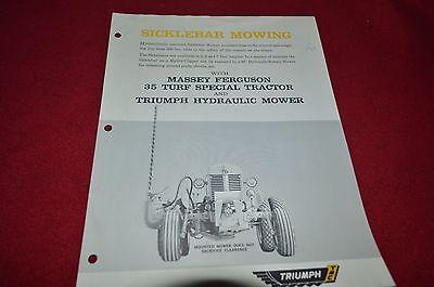 Massey Ferguson 35 Tractor Triumph Hydraulic Mower Dealer's Brochure DCPA