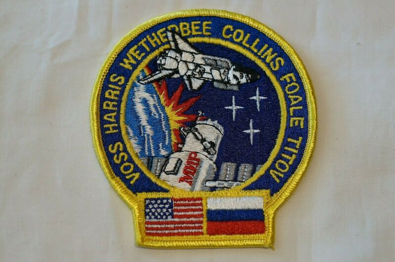 US Space Voss Harris Wetherbee Collins Foale Titov Mission Patch