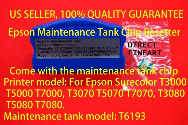 Epson Ink Maintenance Tank chip resetter T619300 T3000 F6070 T7270 T3270 T5270 g