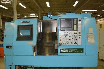 Mori-seiki Zl-15 Twin Turret Cnc Lathe Fanuc 15tt Control With New Led Monitor