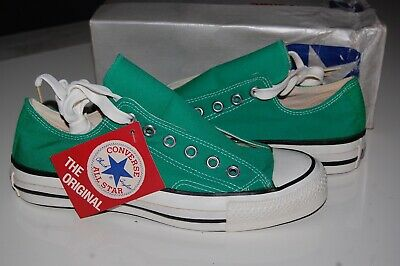 CONVERSE ALL STAR OXFORD MADE IN USA 6 GREEN VINTAGE 80s DEADSTOCK CHUCK TAYLOR  - Chuck Taylor All Star Oxford