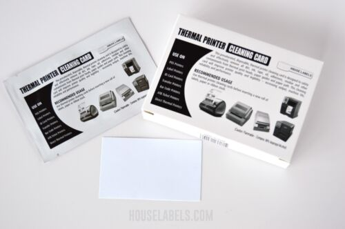 """25 DYMO Compatible 60622 CLEANING CARDS - 2.1"""" x 3.5"""" Works Great For Dymo 30254"""