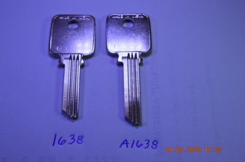 Ilco A1638 or 1638 keyblank for various Medeco Biaxial G3 keyways