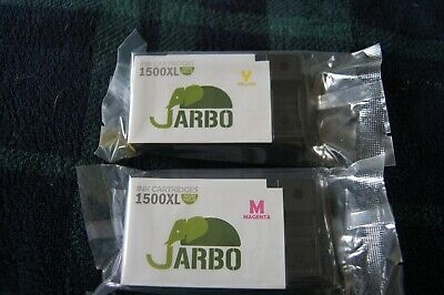 2 Jarbo ink cartridges 1500XL Magenta and Yellow new and sealed