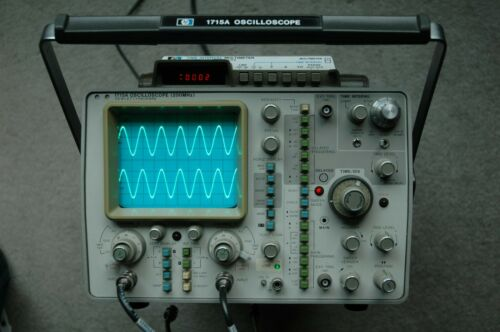 HP 1715A 200MHz Two Channel Oscilloscope with Power Cord