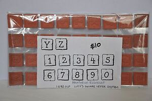 TWO RUBBER STAMP ALPHABET SETS LUCY'S - $18.00 the lot Page Belconnen Area Preview