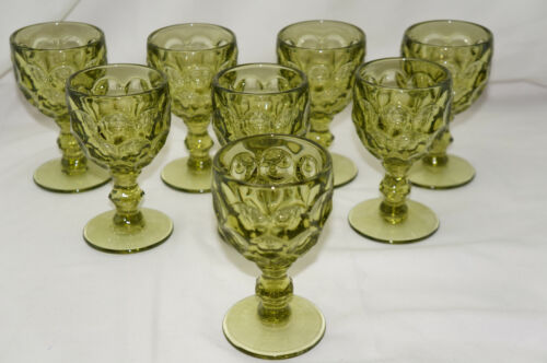 """Imperial Provincial Green (8) Wine Glasses, 4 3/8"""""""