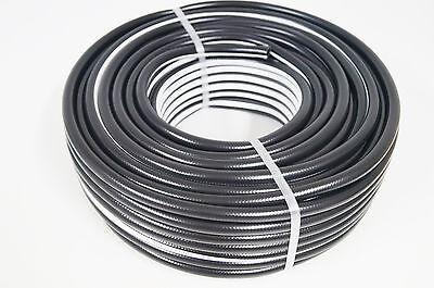 Druckluftschlauch 10 mm x 2,5mm 50m schwarz flexibel Luftschlauch Gewebeschlauch