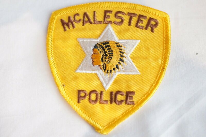 US McAlester Oklahoma Police Patch