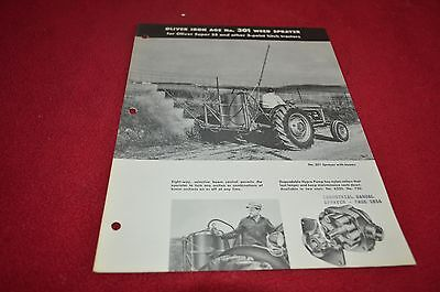 Oliver Tractor 301 Iron Age Weed Sprayer Dealer's Brochure YABE12