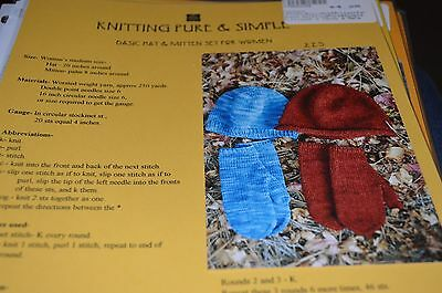 Knitting Pure & Simple Pattern 223 Basic Hat Mittens for Women Basic Hat Knitting Pattern