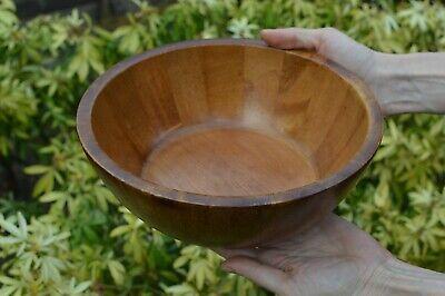 Large Vintage Hand Made Wooden Bowl