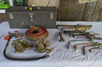 Large Lot Victor Harris National Airgo Journeyman Heavy Duty Welding Cutting Set